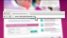 It's easier than ever to make strides to end breast cancer. See how easy it is to sign up and learn how to use the My Strides dashboard to help raise funds to help support the American Cancer Society's fight against breast cancer. We need your help. Join us today! Visit us at at http://MakingStridesWalk.org.