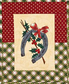 Holly Jolly Horseshoe, a Western Christmas quilt pattern by Lauren Pope
