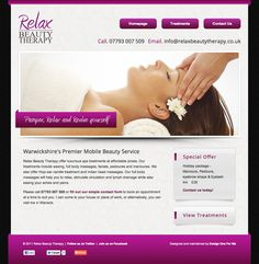 Mobile Beauty salon in Warwick website - designed and built by Coventry web design company, Design One For Me