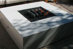 Sleek, modern fire pit.