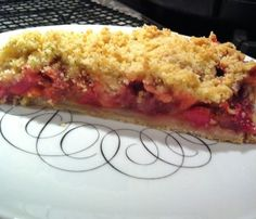 Strawberry, Rhubarb, Banana Tart with Oat Streusel