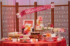 """sugar coma"" dessert bar from Hello There, Cupcake! // photo by SundayRomance.com"