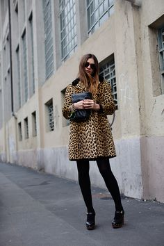 jacket, street fashion, milan, styleb fashion, leopard coat, street styles, leopards, animal prints, leopard prints