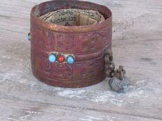 Vintage Copper Tibetan Tibet Buddhist Prayer  www.swoonantiques.etsy.com $24.99