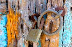 color, lock, old doors, key
