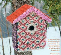knitted bird house!