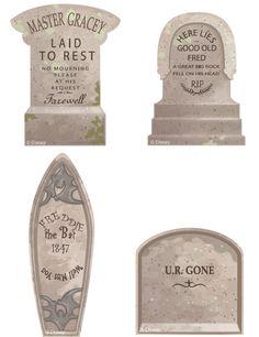 #disney printables #hauntedmansion cupcake tombstones http://family.go.com/printables/article-772165-disney-halloween-printable-haunted-mansion-cupcake-tombstones-t/
