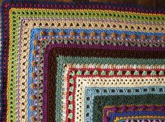 Stitch Sampler Afghan in Scraps - Crocheted Throw Blanket. $52.00, via Etsy.