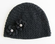 Ravelry: Embellished Basic Crochet Beanie pattern by Lady Lina..free