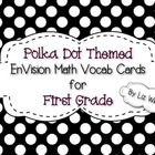 EnVision Math 1st grade vocab cards