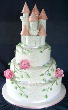 This would make a great cake for a little girl's birthday party!  I especially mean my granddaughter!