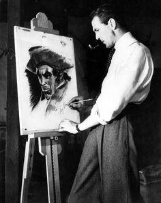 Gary Cooper, painter