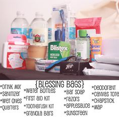 Blessing Bags to keep in your car to give away to the homeless.
