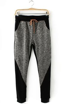 Color blocked skinny sweats