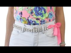 P.S.-I made this...Crystal Bow Belt @NYDJ Europe #PSIMADETHIS #DIY