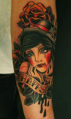 Sa Jin | old school #tattoo