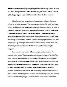 model essay form 3