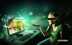 Nvidia - 3D Your PC by Peter Jaworowski, via Behance