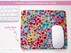 How to Make a Fabric-Covered Mouse Pad @DreamOffice @Church Hill Classics