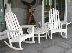 Adirondack Rocking Chairs. Durable outdoor furniture made from recycled plastic. #MadeInUSA
