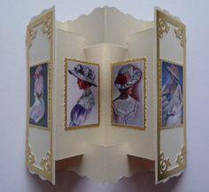 Lacy Stamped ATC Zig-Zag Card by Sheila Weaver - Joanna Sheen