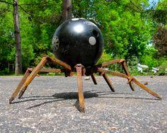 welded spike garden spider