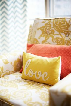 DIY - cut out any word from felt and either sew or hot glue onto a pillow