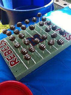 football cakes, tailgate recipes, hotti toddi, cake pops, football parties, football cake ideas, groom cake, football season, themed cakes