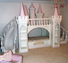 So cute, perfect for that little princess...but Id my little princess likes to test my limits i doubt she would ever go to bed with this slide tempting her lol