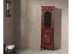 Linen Cabinets - Cherry Finish Bathroom Linen Cabinet