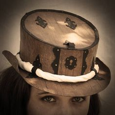 Can you believe this steampunk hat is made out of a cereal box?