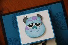 Stampin' Up' Owl Punch Art by Eve's Offcuts: Monsters Inc. monster party, art waterfal, monsters inc, owl punch art, card, monster inc party, disney punch art, art anim, parti