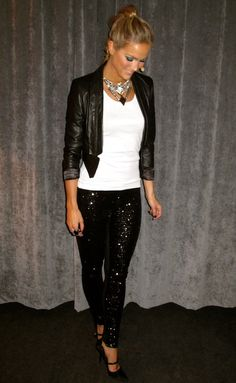 Not really a dress wearing kind off girl, so I'm considering something like this for new years eve! Sequin Leggings!