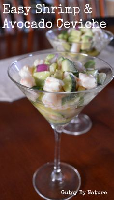 Easy Shrimp and Avocado Ceviche - Gutsy By Nature  #21dsd #seafood #ceviche