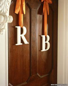 Door monograms for the church