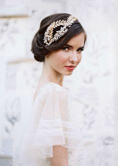 a little bit antique, a lot of elegant.  Wedding hair and beauty