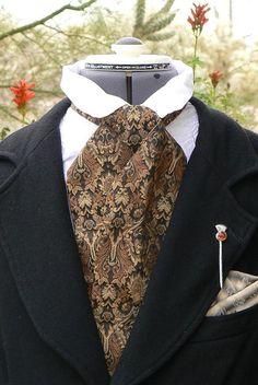 Victorian Brocade Cravat Cowboy Tie Steampunk Mens Necktie $30