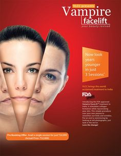 Looking younger just got easier!  Try our new #Vampire #Facelift and you will love the new 'YOU'.  Pre-book now and get great #discounts!