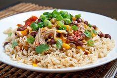 Slow Cooker Santa Fe Chicken | FaveHealthyRecipes.com