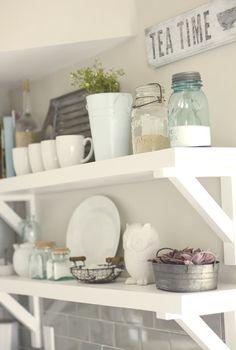 Zero Dollar Decorating! • Tips, Ideas & Tutorials! Including this idea on using glassware from jenna sue design.