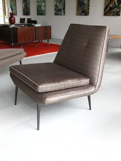 Anonymous; Enameled Metal Base 'Contessa' Lounge Chair by Heywood-Wakefield, 1959.