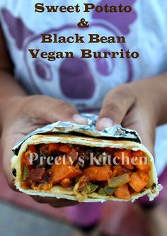 Sweet Potato & Black Bean #Vegan #Burrito / Thanksgiving Breakfast Recipe ( Step By Step Pictures)#veganthanksgiving