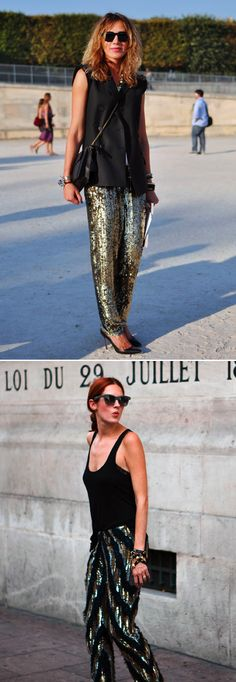 sparkly trousers!!