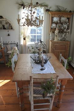 farmhouse dining dining rooms, dine room, dream, farmhous dine, dining decor, country christmas, kitchen, 52 flea, countri