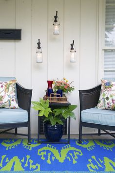 Home Depot. Small patio ideas for your front porch
