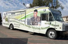 Bookmobile, Marine and Family Services Library System, Camp Pendleton, California.