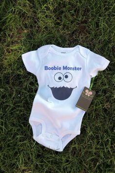 Boobie Monster  Funny Baby Onesie by ShopTheIttyBitty on Etsy, $16.00