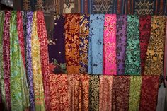 Sarongs for sale  Tenganan Village  Bali, Indonesia