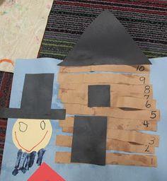 Number Order Log Cabin & Handprint Lincoln Craft
