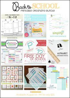 Back to School Printable Organizing Bundle | Available on HoosierHomemade.com